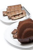 Chocolate and Cake Stock Photo