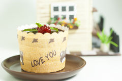 Chocolate cake. For valentine day Stock Images