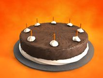 Chocolate Cake. 3d illustration of chocolate Cake Royalty Free Stock Photos