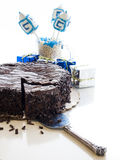 Chocolate Cake. Flourless Chocolate Cake with Star of David for Hanukkah Royalty Free Stock Photography
