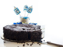 Chocolate Cake. Flourless Chocolate Cake with Star of David for Hanukkah Stock Photography