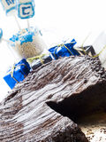 Chocolate Cake. Flourless Chocolate Cake with Star of David for Hanukkah Royalty Free Stock Images