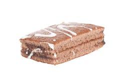 Chocolate cake. Homemade chocolate cake on white background Stock Photography