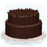 Chocolate-cake Stock Image