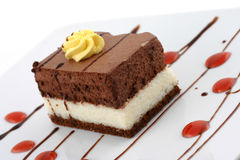 Chocolate cake. Delicious chocolate cake, sweet dessert Royalty Free Stock Photography