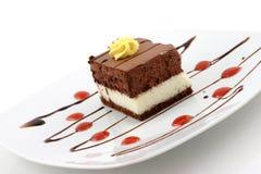 Chocolate cake. Delicious chocolate cake, sweet dessert Royalty Free Stock Image