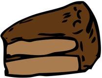 Chocolate cake. Cartoon food illustration of a slice of chocolate cake Royalty Free Stock Photo