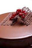 Chocolate cake. Decoration close up Royalty Free Stock Image