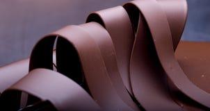 Chocolate cake. Decoration close up Royalty Free Stock Photo
