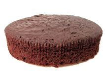 Chocolate cake. Over white background Stock Images