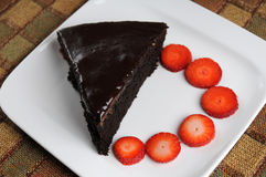 Chocolate Cake. From the seria od Desserts shots at the studio Royalty Free Stock Photos