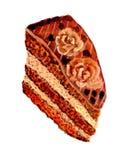 Chocolate Cake Art Stock Photography