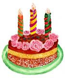 Chocolate Cake Art Stock Images