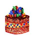Chocolate Cake Art Royalty Free Stock Photography