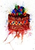Chocolate Cake Art Royalty Free Stock Images