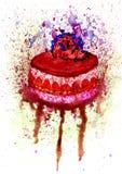 Chocolate Cake Art Stock Photo