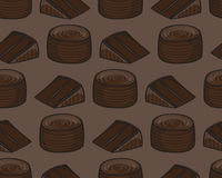 Chocolate Cake Background Stock Photography