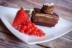 Chocolate Cake and Berries Royalty Free Stock Photo