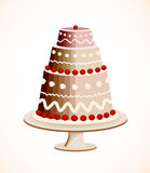 Chocolate cake with berry. Vector Royalty Free Stock Photo