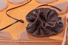 Chocolate cake. Big chocolate cake - food background Stock Photo