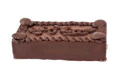 Chocolate cake. Big chocolate cake isolated on white background Royalty Free Stock Photography