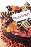 Chocolate cake birthday. Chocolate cake a delicious birthday Stock Images