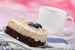 Chocolate cake with blueberry Royalty Free Stock Photography