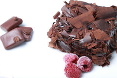 Chocolate cake (Brownie). Chocolate pie brings positive energy and makes us happier Stock Photos