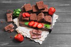 Chocolate cake brownie Stock Photo