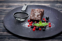Chocolate cake brownie Royalty Free Stock Photo
