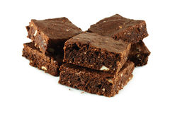 Chocolate cake brownies Stock Image