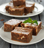 Chocolate cake brownies Stock Images