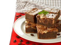 Chocolate cake brownies Stock Photo