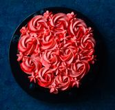 Chocolate Cake with buttercream rosset royalty free stock photos