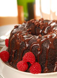 Chocolate cake with champagne Stock Photos