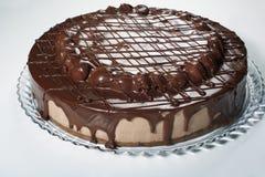 Chocolate cake with cherries Royalty Free Stock Photos