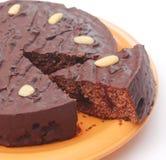 Chocolate Cake with cherries Stock Photos