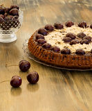 Chocolate Cake With Cherries And Almond Royalty Free Stock Photo