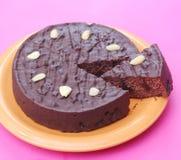 Chocolate Cake with cherries. Some fresh chocolate cake with cherries Royalty Free Stock Photography