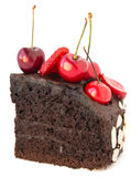 Chocolate cake with cherries. Stock Photography