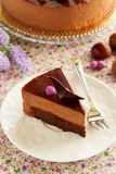 Chocolate cake with chestnut mousse Royalty Free Stock Image