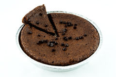 Chocolate cake and chip Stock Image