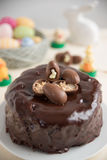 Chocolate Cake with chocolate eggs Royalty Free Stock Photography