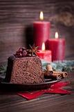 Chocolate cake for christmas Stock Photos