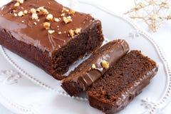 Chocolate cake for Christmas Stock Photography