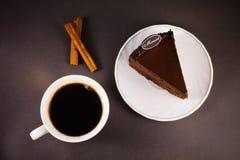 Chocolate cake with cinnamon and coffee Stock Photography