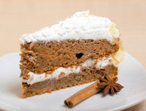 Chocolate cake with cinnamon.sweet dessert Royalty Free Stock Images