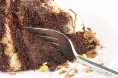 Chocolate cake close-up Royalty Free Stock Photo