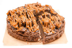 Chocolate cake close up Royalty Free Stock Photography