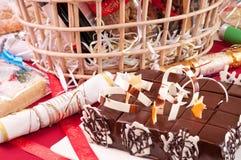 Chocolate cake close up Stock Photography